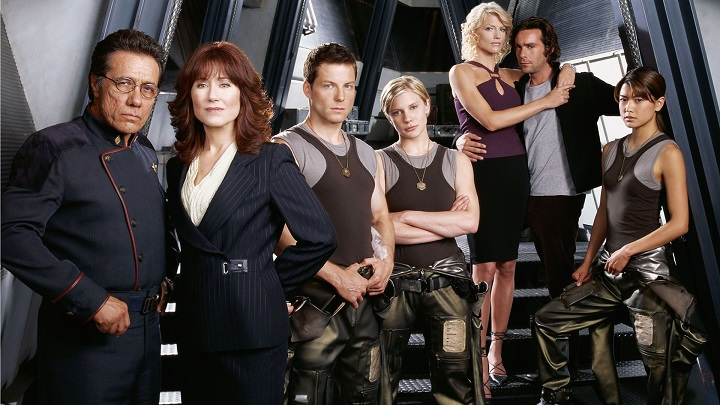 The main cast of Battlestar Galactica.