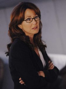 Laura Roslin, the president in Battlestar Galactica.